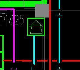 消防框框中一个三角下面加一个图纸图纸n上代表指北针工程图片