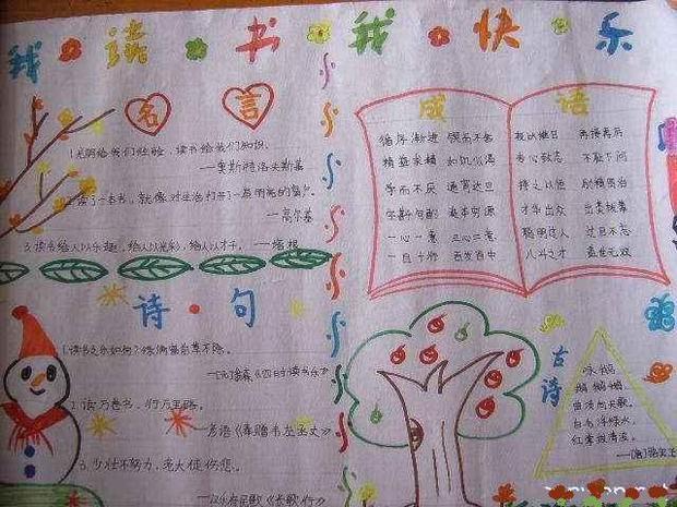 简单漂亮读书笔记花边图片_简单又漂亮的手绘读书笔记