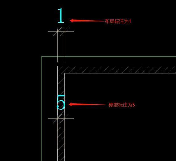 cad图纸标注模型与布局尺寸尺寸的图纸不对怎cad实际描绘上重新图片